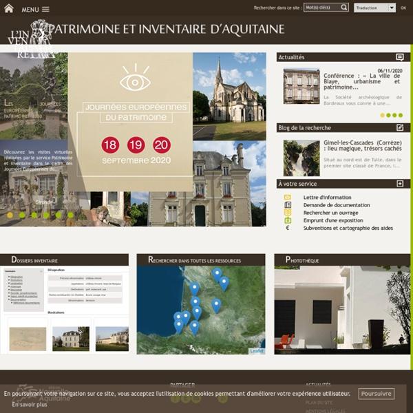 Accueil - Patrimoine et inventaire d'Aquitaine