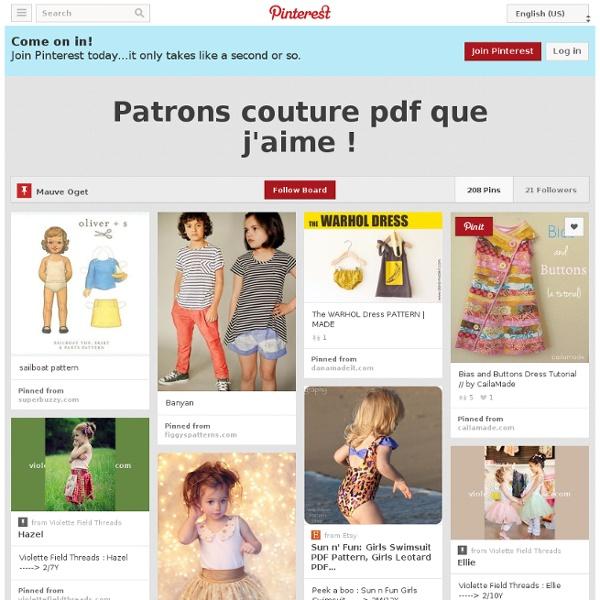 Patrons couture pdf que j'aime !