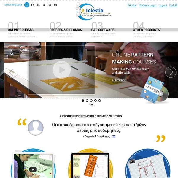 Pattern Making Courses Online - Design your own clothes - eTelestia