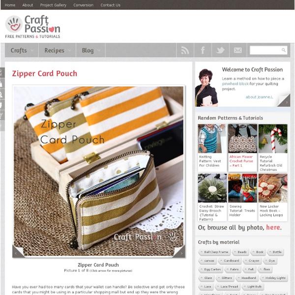 Pattern Free & Tutorial à CraftPassion.com