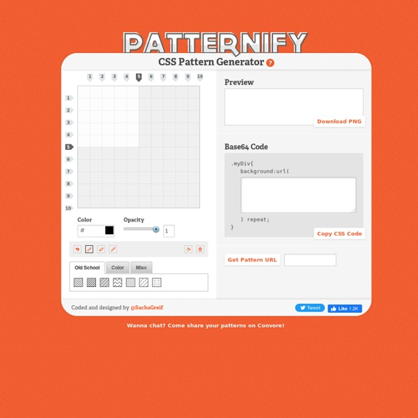 A CSS Pattern Generator