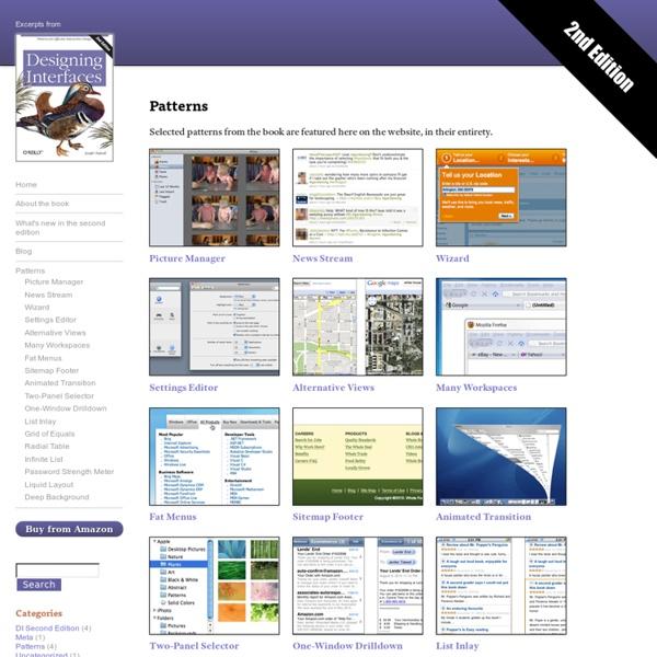 Patterns : Designing Interfaces