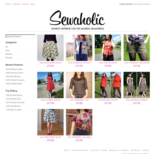 Sewing Patterns, Independent Pattern Designs, Clothing Patterns for ...