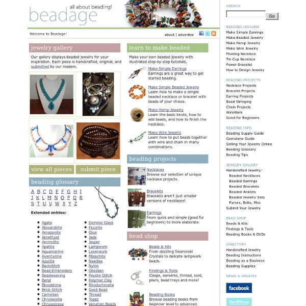Beadage - Make Beaded Jewelry - Free Beading Patterns, Instructions, and Projects