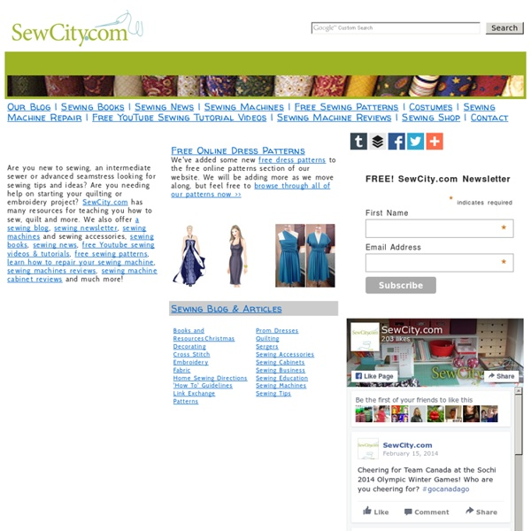 SewCity.com Free sewing patterns, how to sew, new sewing quilting...