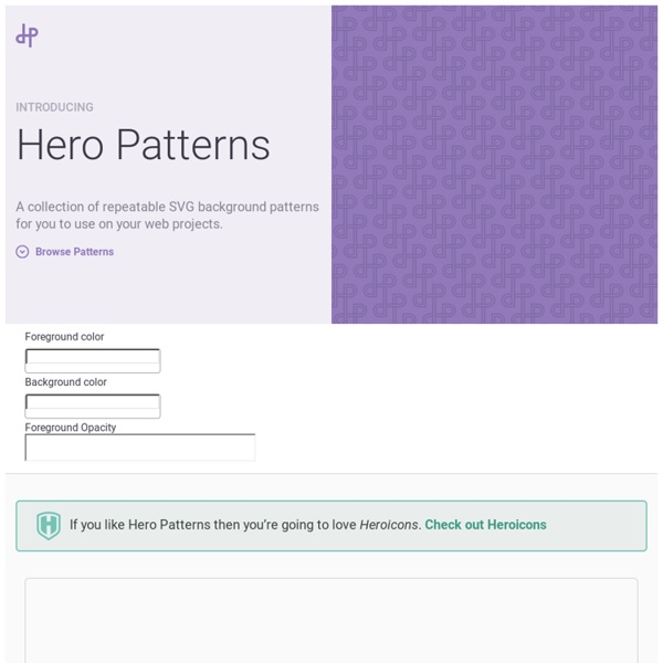 Hero Patterns - Repeatable SVG Background Patterns