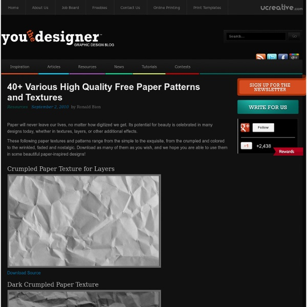 40+ Various High Quality Free Paper Patterns and Textures