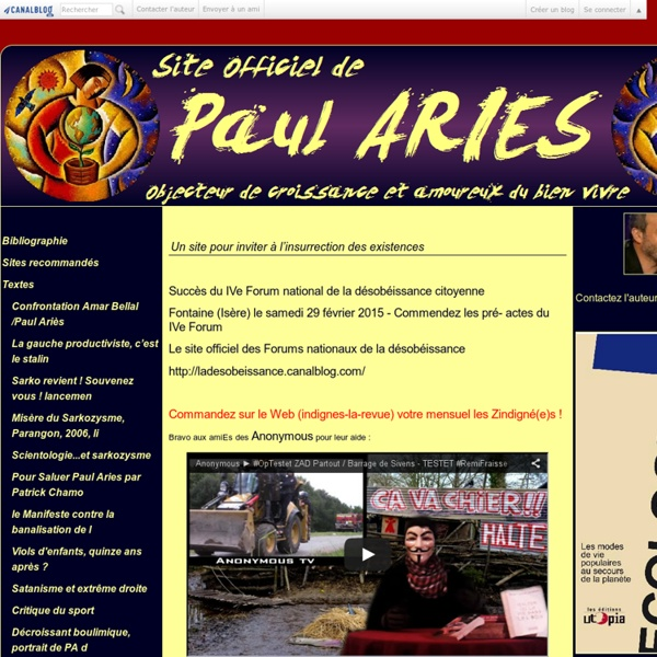 Paul ARIES - Site Officiel
