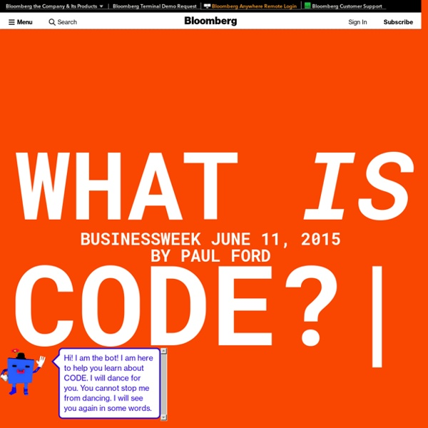 Paul Ford: What Is Code?