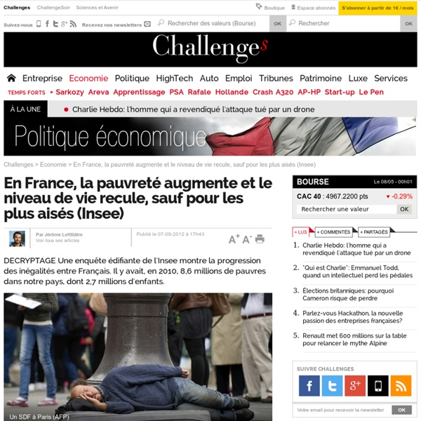 Le niveau de vie recule en France... sauf pour les plus aisés