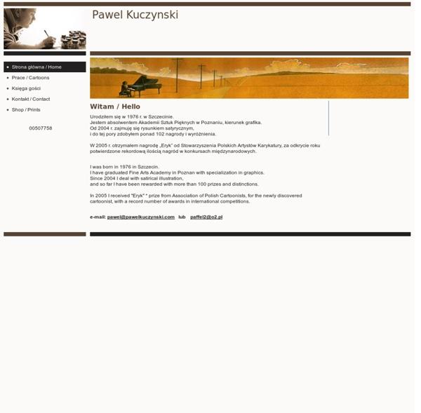 Pawel Kuczynski - Strona główna / Home