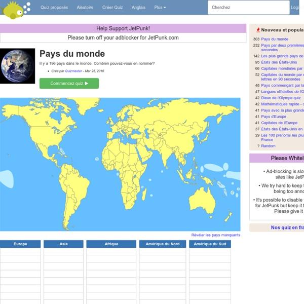 Jetpunk - Pays du monde