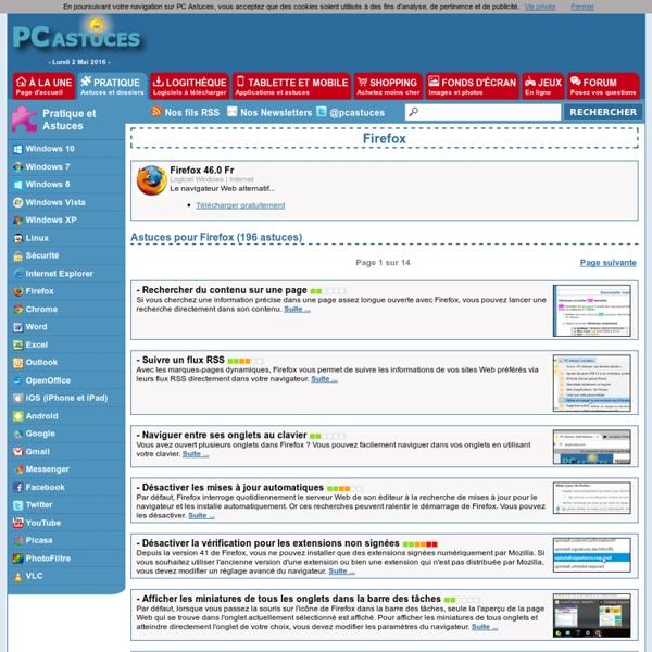 PC Astuces : Astuces pour Firefox