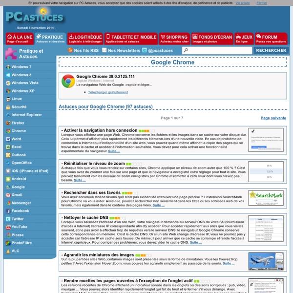 PC Astuces : Astuces pour Google Chrome