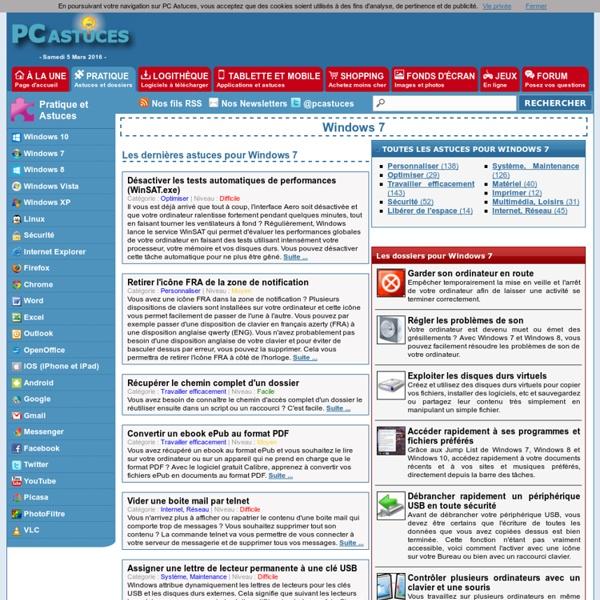 PC Astuces : Astuces pour Windows 7