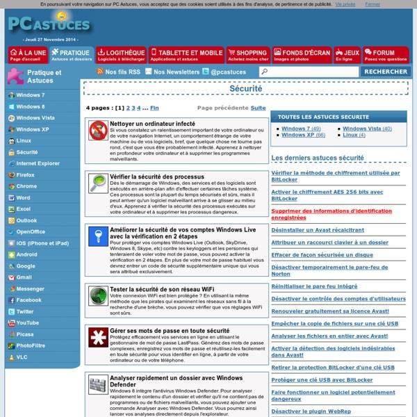 PC Astuces : Sécurité