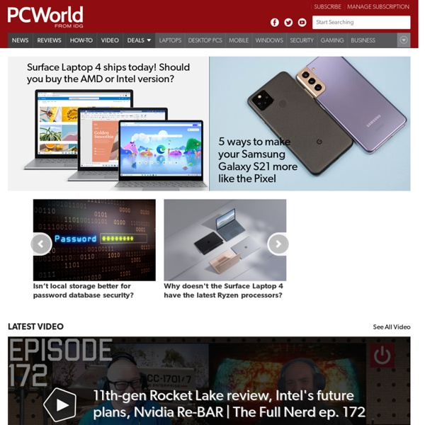PCWorld - News, tips and reviews from the experts on PCs, Windows, and more