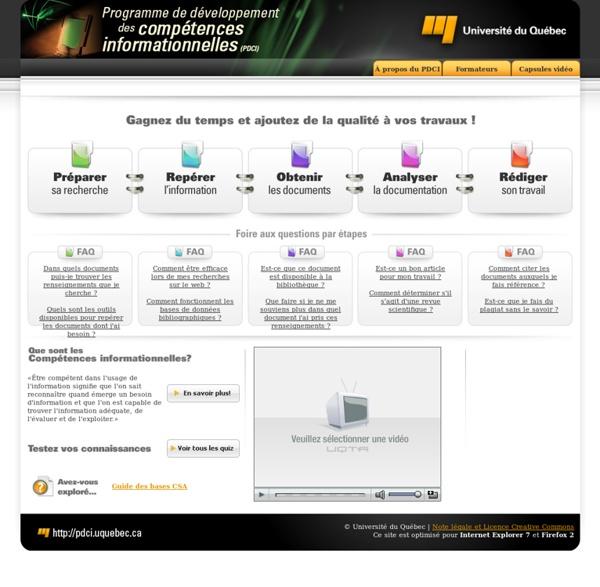 Développement des compétences informationnelles