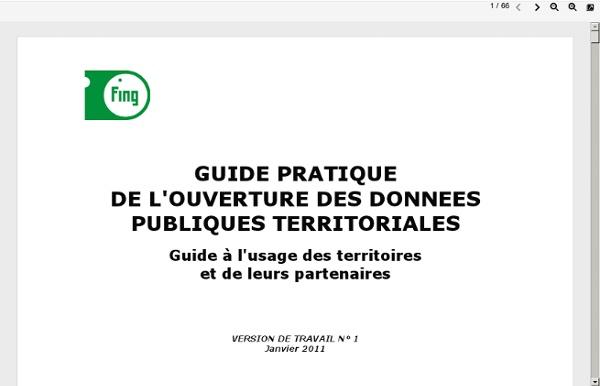 Guide pratique de l'ouverture des données publiques territoriales