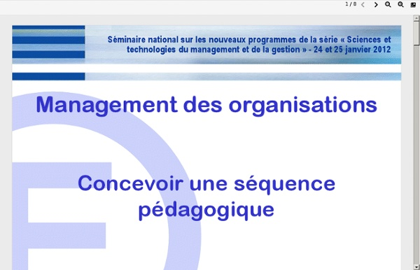 Concevoir sequence management