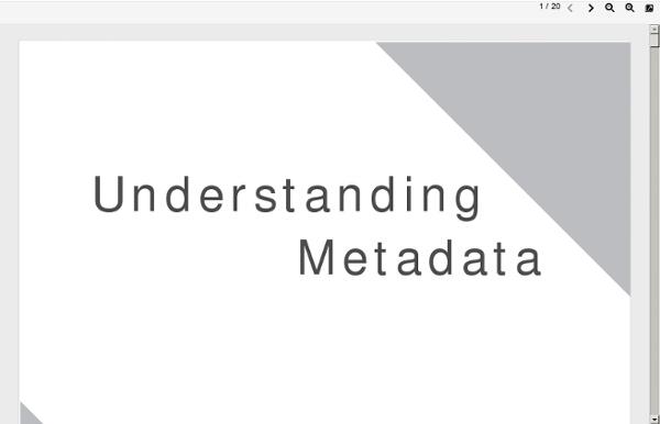 Www.niso.org/publications/press/UnderstandingMetadata.pdf