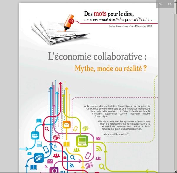 L'économie collaborative : mythe, mode ou réalité ?