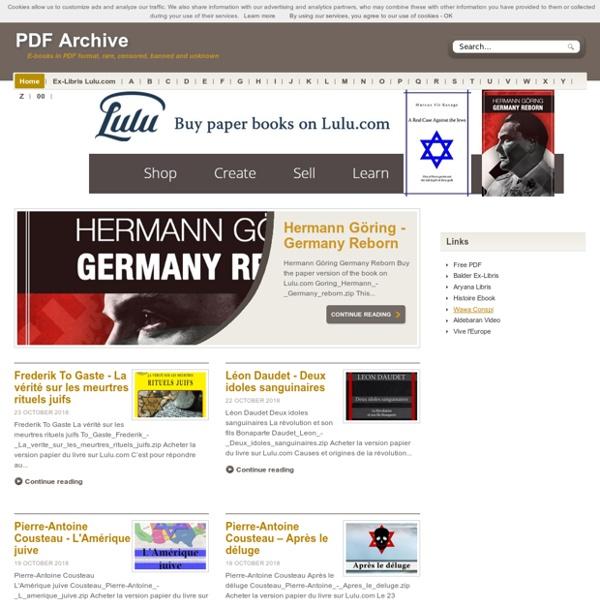 Livres numériques au format PDF