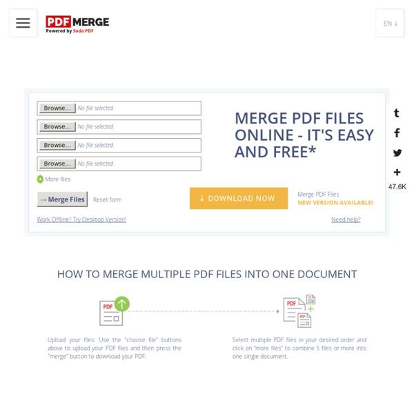 online tool to merge pdf files