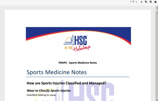 PDHPE-Sports-Medicine-Notes