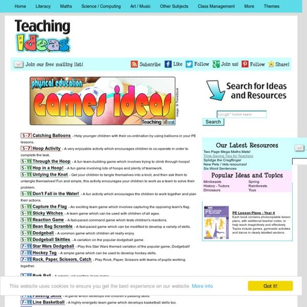 PE - Games Teaching Ideas