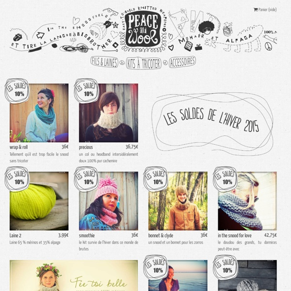 Peace and Wool kits en tricot