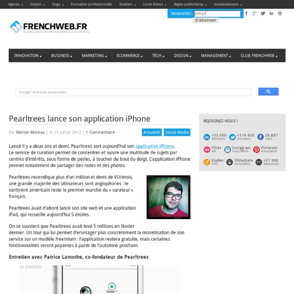 Pearltrees lance son application iPhone