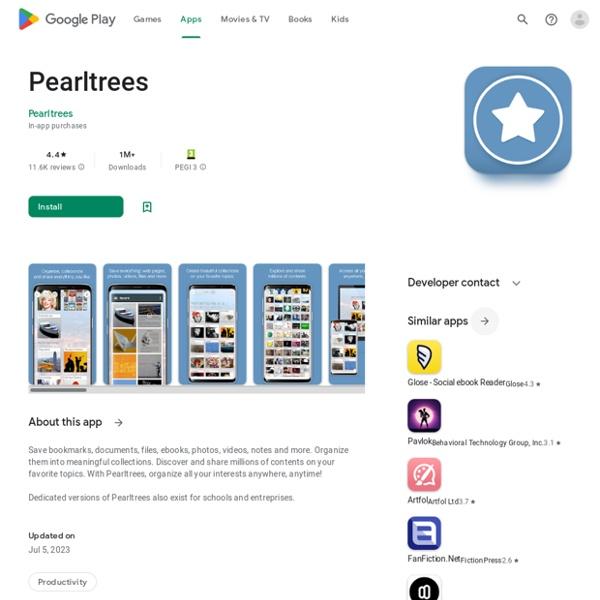 Pearltrees - Collect & Share - Приложения на Google Play