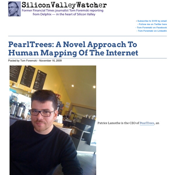 PearlTrees: A Novel Approach To Human Mapping Of The Internet -SVW