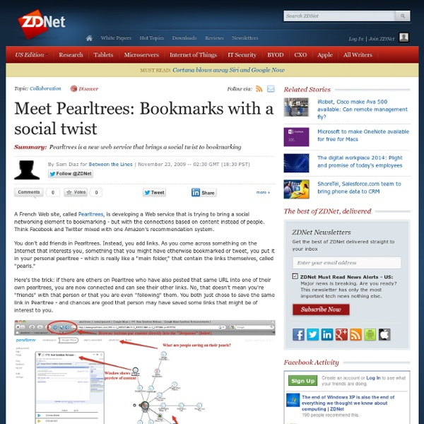 Meet Pearltrees: Bookmarks with a social twist
