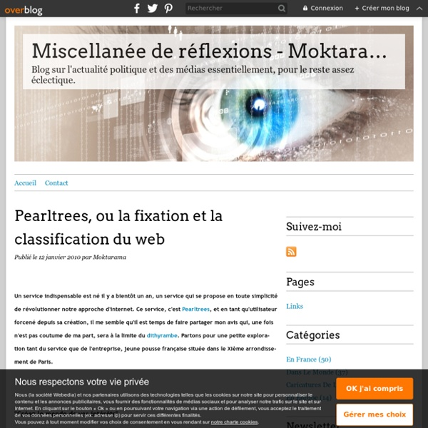 Pearltrees, ou la fixation et la classification du web