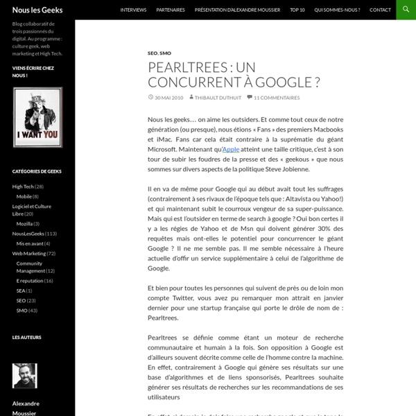 Pearltrees : un concurrent à Google ?