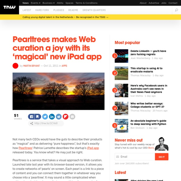 Pearltrees makes Web curation a joy with its 'magical' new iPad app