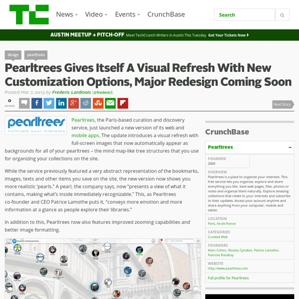 Pearltrees Gives Itself A Visual Refresh With New Customization Options, Major Redesign Coming Soon