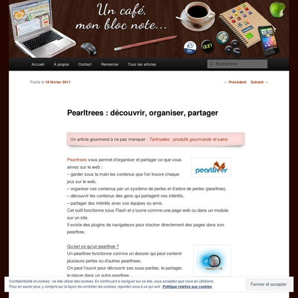 Pearltrees : découvrir, organiser, partager