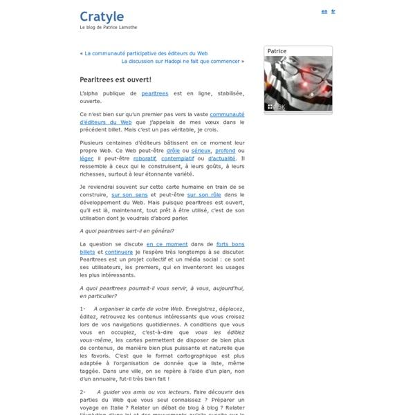 Pearltrees est ouvert! ? Cratyle.net