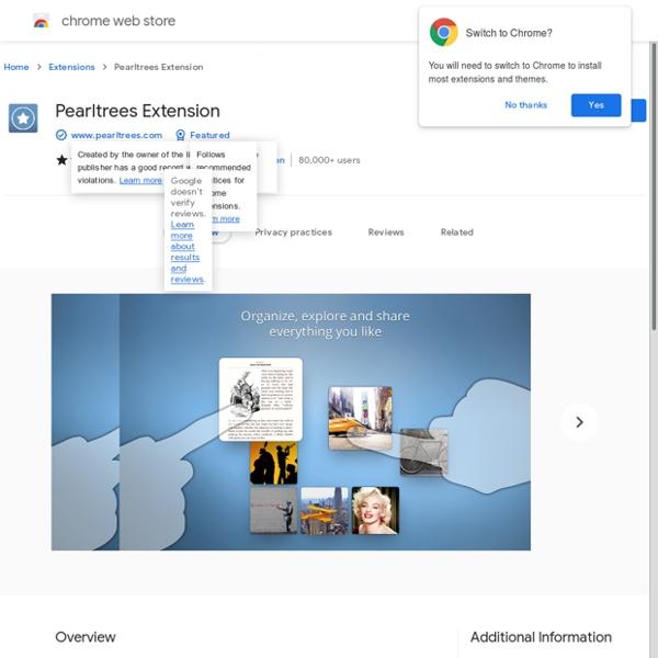 Pearltrees - Galería de extensiones de Google Chrome