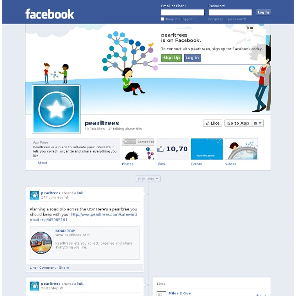 Pearltrees on Facebook