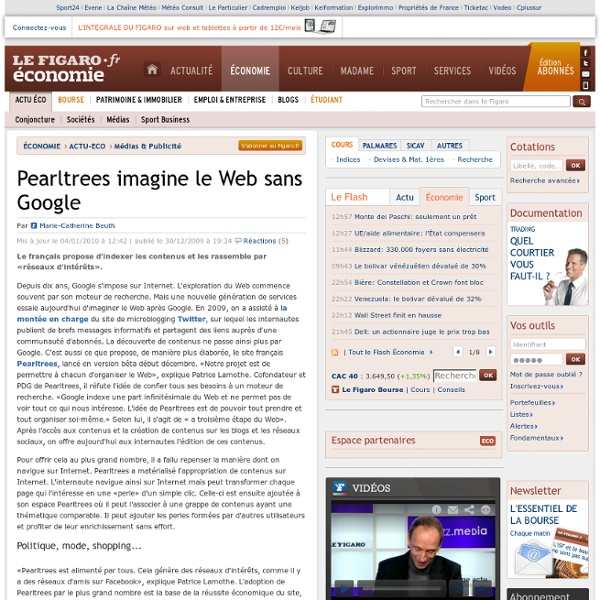 Médias & Publicité : Pearltrees imagine le Web sans