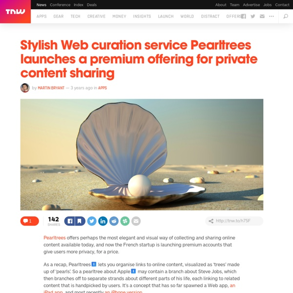 Pearltrees Launches a Premium Service for Private Content Sharing