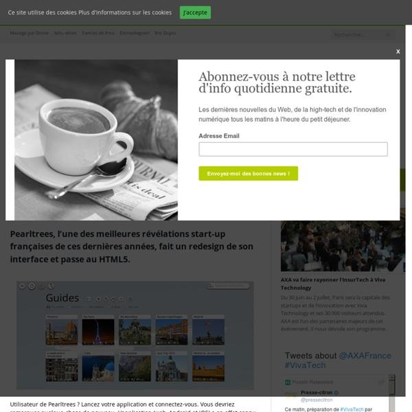 Pearltrees : nouveau design et passage au HTML5