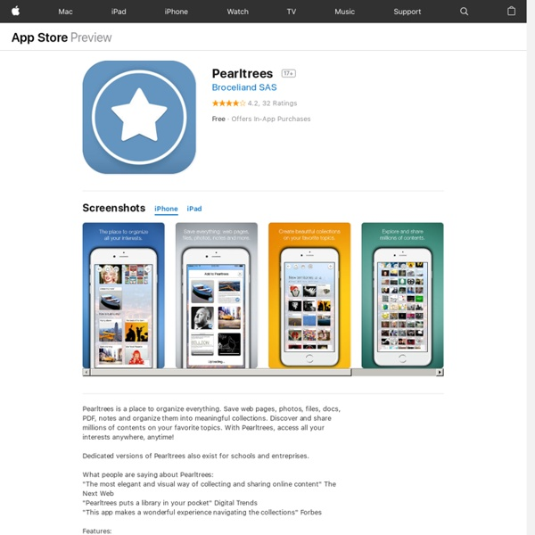 Pearltrees - Organize all your interests - web pages, docs, PDF, notes, file manager