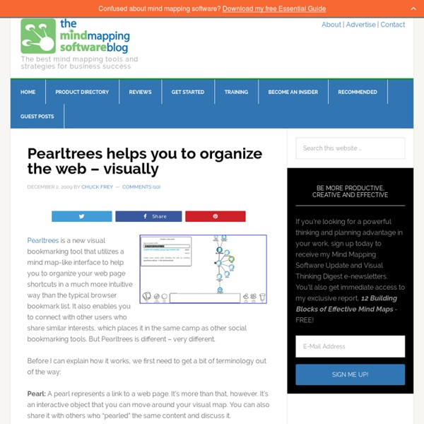 Pearltrees helps you to organize the web - visually