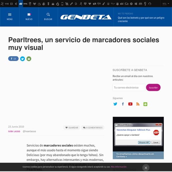 Pearltrees, un servicio de marcadores sociales muy visual