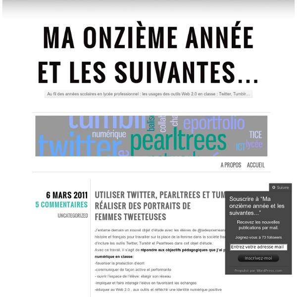 Utiliser Twitter, Pearltrees et Tumblr pour réaliser des portraits de femmes tweeteuses